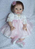 Cheap New 2014 Free shipping TOP QUALITY 55cm boy reborn baby doll same quality as adora baby doll for kids' gift bjd doll DIY doll