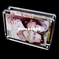acrylic photo magnets - 6inch mm Fashion Thick Transparent Acrylic Magnet Photo Frame Rounded Corners thickness mm mm