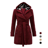 Wholesale S5Q Women Autumn And Winter Cotton Casual Fashion Slim Double Breasted Long Coat AAAFPP