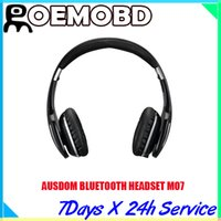 ear covers - AUSDOM HEADSET bluetooth M07 ear cup covers Foldable and portable carrying support wired connection with line in port