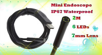 Wholesale 2m Super Mini mm Dia CMOS HD USB Endoscope LED Borescope Camera for Industrial Inspection HLV_005