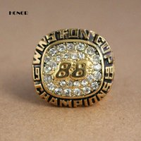 Wholesale Fashion gold plating mens rings Dale Earnhardt Jr Replica Championship Rings size Unique Design Ring