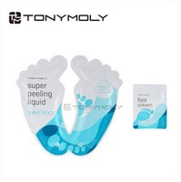 Wholesale 300pcs CCA2096 Hot Sale Newest Korean product Tony Moly feet tender mask foot skin care foot peeling cuticle remover Feet care sticker