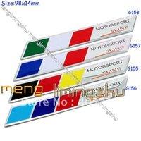 Wholesale NEW D Aluminum Alloy D Badges Dermany France Italy Mtech Flag