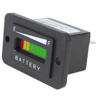 12 / 24V 36V 48V Diagnóstico de la batería de la carga del coche del metro del probador del indicador de la batería del LED de la Tres-colora 10 CEC_501