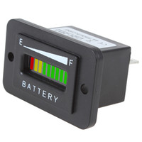 Wholesale 12 V V V Three color Bar LED Battery Indicator Tester Meter car Charge Battery Diagnostic CEC_501