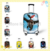 Wholesale 2015 new fashion travel accessories trolley luggage cover bags for inch suitcase cover dragon elastic cover luggage free