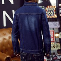 asian style clothing for men - Fall New USA Design Mens Jeans Jackets American Army Style Man s Jeans Clothing Denim Jacket for Men Plus Asian Size XXXL A03
