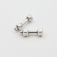 dumbbells - Fashion Alloy Fitness Equipment Charms Vintage Dumbbell Shape Charms mm AAC814