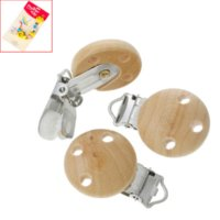 baby king products - 2015 Fashion Wooden Baby Pacifier Clips Natural Color Wooden Round Baby Products cm x2 cm baby king products
