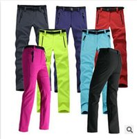 Wholesale Sporting Women Pant WaterProof WindStopper Pants Trousers Soft Shell Outdoor Pant For Hiking Camping fishing Climbing Sports