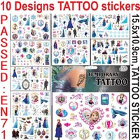 Wholesale 420pcs x10 cm Tattoo Sticker FROZEN Avangers Spiderman Minion My Little Pony Zootopia Batman Kinds MIX Temporary Tattoo DHL Free
