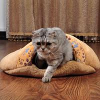 bag brand home - Home Pet Supplies Brand New Soft Pet Sleeping Bag Warm Dog Cat Nest Bed Practical Indoor Pet Mat Coral Fleece Cushion Pet Supply H15803