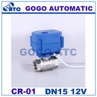 Valve Balls - 1 BSP DN15 V DC Stainless steel Motorized Ball Valve way Electrical MINI Ball Valve CR Wires electric automatic valve