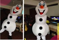 Wholesale best selling custom made Frozen costume Frozen Dress Olaf Snowman Mascot Costume for Adult EMS