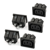 ac outlet types - 5 IEC C13 Panel Outlet Power Socket Clamp Type Connector AC V A