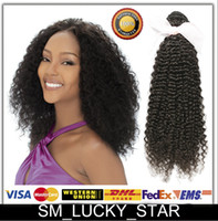curly human hair extensions - 100 Brazilian Malaysian Peruvian Indian Virgin Human Hair Kinky Curly Remy Hair Weaves Wefts Extensions Bundles B No Shedding Nice