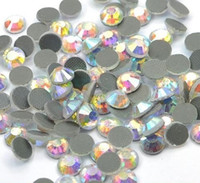 hot-fix for rhinestone - 2packs BLING Crystal AB COLOR DMC Flatback Hot Fix Crystal Rhinestones Gems for DIY Garment SS6 SS40