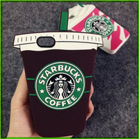 cases - 2015 D Cartoon For Apple IPhone s s Plus Cell Phone Cases Silicon Starbuck Coffee Cup Durable Mobile Phones Case