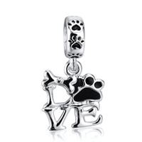 beautiful glass beads - Fashion Beautiful LOVE Pendant Charm Sterling Silver European Charm Beads Fit Pandora Bracelets Snake Chain DIY Jewelry