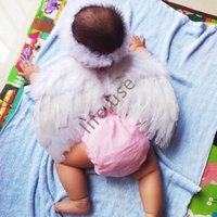 Wholesale Fashion Infant Newborn Baby Feather Headband Wing Photography Accessory Prop