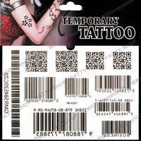 bar code stickers - Tattoo stickers bar code waterproof tattoo stickers k1