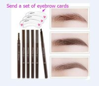 Wholesale Hot Double automatic rotary dual purpose waterproof anti sweat eyebrow brush D Makeup Eyebrow Pencil