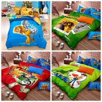 bedding set suppliers - Toy Story Cartoon Full Queen King Size d Minions Printing Kids Bedding Sets Soft Cotton Bedding Supplier Spreads Bed Mattress Cover