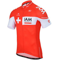 Wholesale 2015 IAM PRO TEAM RED ONLY Short Sleeve Cycling Jersey Bicycle Wear Size XS XL