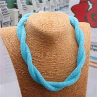 Precio de Mixed crystal beads-Mezcla el color Multlayer envuelven el collar con el restablecimiento cristalino brillante resina Crystal rebordea la fabricación diy del corchete magnético