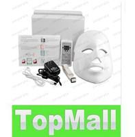 Wholesale 7 Colors Lights LED Facial Mask face skin care led light therapy Led Photon Facial PDT mask skin rejuvenation Beauty Therapy LLFA85