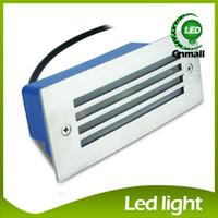 al por mayor luces led al aire libre paso-Las luces LED empotrado de pared LED de luz de escalera 3W llevó la lámpara de pared de la noche light Paso Luz empotrada en el suelo al aire libre impermeable de la luz Lámparas de pared