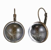 Wholesale Fashion Jewelry Vintage Creative Earring Retro Metal Dangle Strange Dandelion Cuff Earrings Crystal Glass Earrings ED330