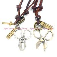 amulet boot - 2015 Camera Boot Cowboy Hat Accessories Metal Pendant Amulet Adjustable Leather Necklace Punk Cowboy Decorations Gift