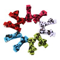 Wholesale 10pcs Mixed Color Lovely Pets Hair Bow For Dog Headdress Puppy Cat Teddy Hairpin Dog Pet Grooming Accessories Gift