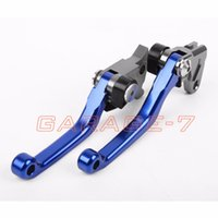 Wholesale CNC Pivot Racing Blue Brake Clutch Levers For Yamaha TTR250 dirt bike off roads one pair1993 New