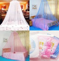 Wholesale 2015 retail Elegant Color Bed Mosquito Netting Mesh Canopy Princess Round Dome Bedding Net Mosquito Net
