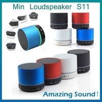 Wholesale Bluetooth Mini Speaker S11 Mini Speaker Mini Loudspeaker BeatBox Metal Compact Player Home Audio For IPhone with no logo
