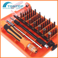 Wholesale 45 in Professional Hardware Screw Driver Multi function for Home Repair Automotive Tool Kit