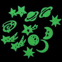 Cheap Graphic vinyl Luminous Wall Stickers Best Plastic Cartoon Glow Stars Stickers