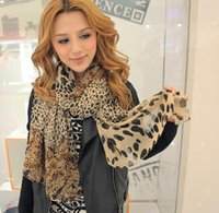 Wholesale 2014 new design autumn winter fashion accessory sexy lady woman chiffon scarf leopard print decoration scarf size cm cm