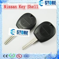 Wholesale 2 Buttons Blank Remote Key Cover for Nissan Car Key Shell for Replacement Packaged with PE bag High Quality DHL Free A