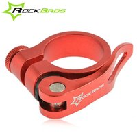 Wholesale ROCKBROS Aluminum CNC Ultralight Quick Release Road Bike MTB Mountain Bicycle Seat Post Seatpost Clamp mm mm g Color