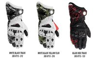 Wholesale Newest printing GP PRO motorcycle racing gloves materials long style leather motorbike gloves