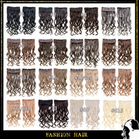 clip in curly hair extension - Clip In Synthetic Hair Extensions inch cm g Clips In Hair Clip In Hair Extentions Clip In Synthetic Curly Wavy Hair Colors