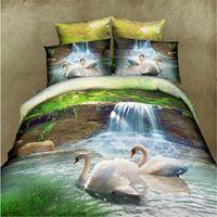 bench sheet - d Swan bed sheets bench clothing linen bedding sets pillowcase Khaleesi Hometextile bedding set