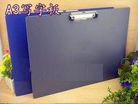 art boarding schools - A3 Plastic Thicken Wordpad Paper File Clipboard Art Drawing Board WordPad Office School Supplies Stationery Plate