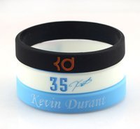 Wholesale New Basketball Star Silicone Rubber Wristband Kevin Durant Bracelet Signature Sports Wrist Strap Fans Gift