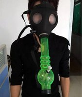 Wholesale Mask bongs Gas Mask Water Pipes Workplace Safety Supplies Sealed Acrylic Hookah Pipe Vaporizer Filter Smoking Pipe HJ0001b