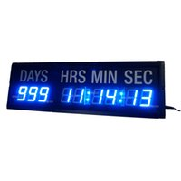Wholesale 1 Character High Blue LED Countdown Timer Countdown And Count Up Day Until Events LED Countdown Clock In Days Hours Minutes Seconds